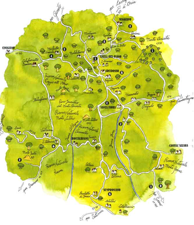 Strada della castagna mappa strada della castagna mappa strada della