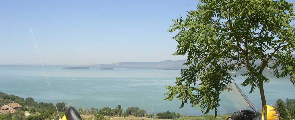 Monte Amiata close Trasimeno lake
